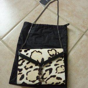 SAINT LAURENT 'Cassandra' Leopard Calf Hair Bag